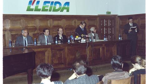 Moment de la decisió del jurat de la primera edició del Pica d'Estats, fa trenta anys.