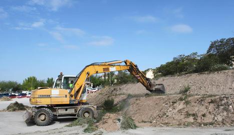 Tàrrega inicia les obres de millora del pàrquing de l'avinguda de l'Onze de Setembre