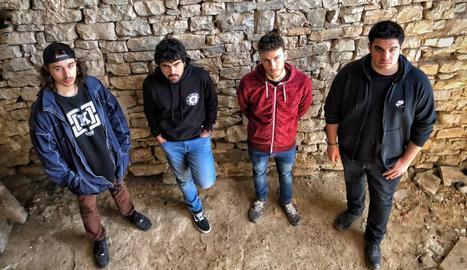 Imatge promocional del quartet de Cervera The Pink Goats.