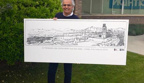 Trobada d''urban sketchers' avui a la Seu Vella, amb 330 inscrits