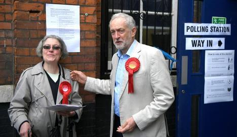 El líder dels laboristes, Jeremy Corbyn, durant els comicis.