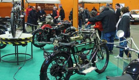 Algunes de les motos que van estar exposades a Mollerussa.