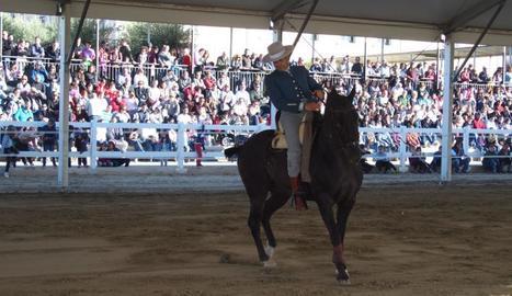 Un dels espectacles que es van celebrar ahir a EquiMollerussa.