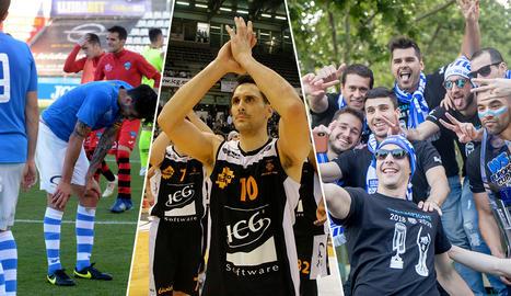 ENQUESTA. Posa nota a la temporada dels tres equips principals de Lleida
