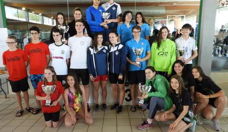 El CN Lleida guanya el Provincial de natació