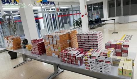 La Guàrdia Civil decomissa prop de 5.000 paquets de tabac de contraban per valor de 20.000 euros