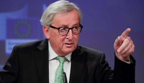 El president de la Comissió Europea (CE), Jean-Claude Juncker, va fer balanç del mandat.