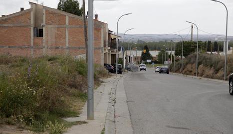 El primer tram de l'avinguda de Catalunya que dóna accés a Alcoletge i on s'actuarà.