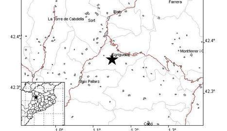 Un terratrèmol de magnitud 2,6 es deixa sentir al Pallars Sobirà