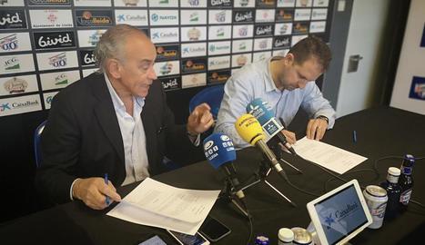 González i Serna van firmar ahir el contracte de renovació.