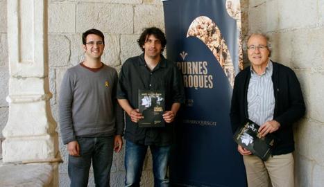 Barcons, Ramon Torné, alcalde d'Estaràs, i Antoni Balasch.