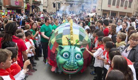 La Targafera va ser el principal atractiu de l'Eixideta, que es va celebrar ahir a la tarda.