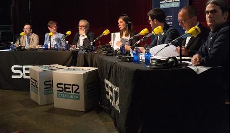 Els participants en el debat electoral de la SER Lleida.