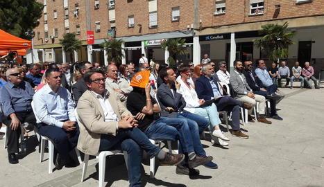 Ciutadans va organitzar ahir un acte a la plaça Sant Pere.