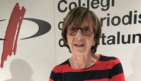 La periodista Montserrat Minobis, que va morir divendres.