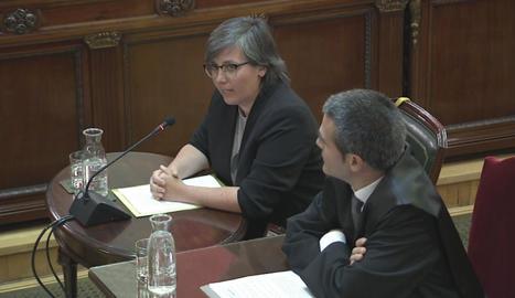Mireia Boya, que va ser diputada de la CUP per Lleida al Parlament, aquest dilluns al Suprem com a testimoni.