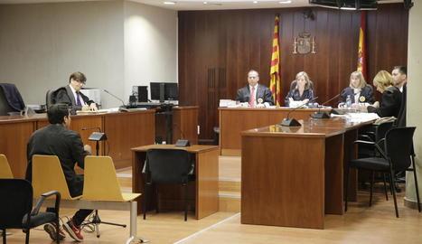 Un moment del judici, celebrat el passat 2 de maig a l'Audiència de Lleida.