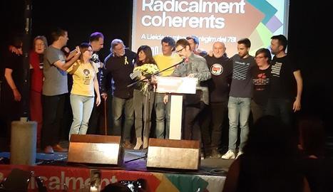 La Crida per Lleida-CUP va celebrar ahir el seu acte central de campanya al Cafè del Teatre.
