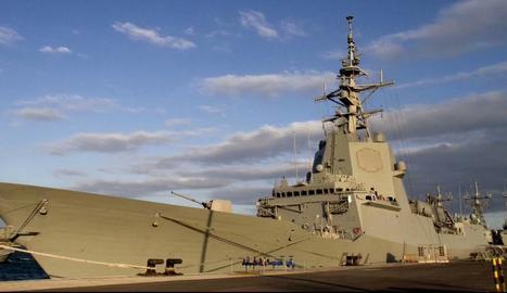 La fragata espanyola 'Méndez de Núñez', retirada temporalment del grup de combat dels EUA.