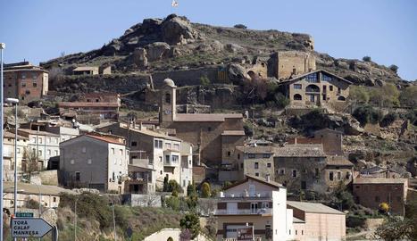 Vista de Biosca, un municipi de la Segarra amb només 181 veïns.