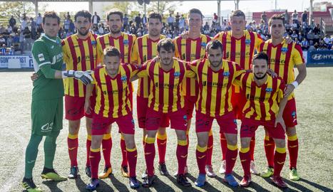 Onze inicial del Lleida en el seu últim partit de la temporada, el passat cap de setmana a Son Malferit.