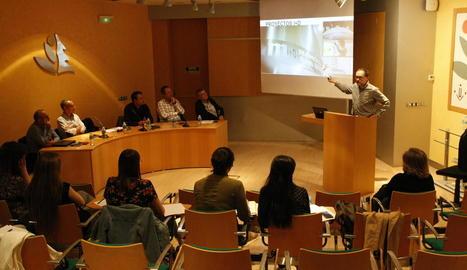 Un moment de la intervenció de Jaume Lluís Tartera, de Mahou-San Miguel.