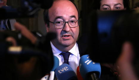 El primer secretari del PSC, Miquel Iceta, ahir, al Parlament.