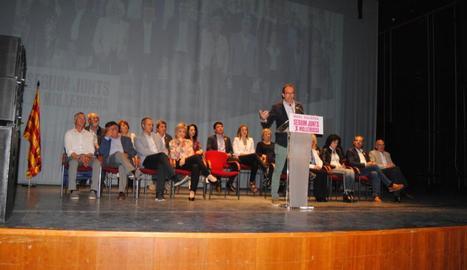 Imatge de l'acte central de campanya de Junts per Mollerussa, que es va celebrar ahir.