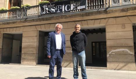 Enric Mir (JxlesBorges) i Josep Farran (BxRep), els candidats que actualment tenen representació a l'ajuntament de les Borges.
