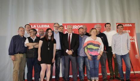 Borrell, en un acte electoral ahir a la Pobla de Segur.