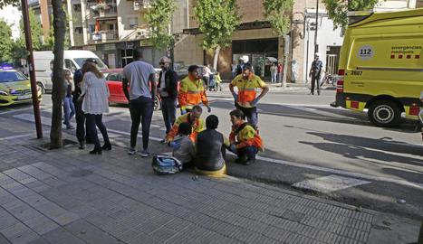 L'atropellament va tenir lloc ahir a l'avinguda Alacant.