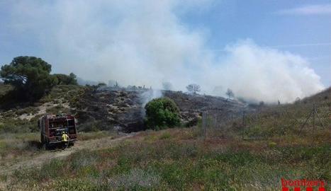 A la Sentiu de Sió es van cremar 2.500 metres quadrats.