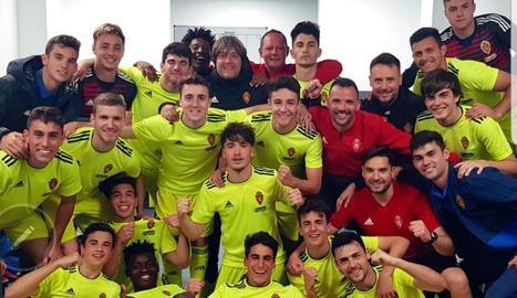 El lleidatà Andreu Torres, al centre, amb els seus companys.
