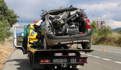 Un dels vehicles implicats en l'accident.