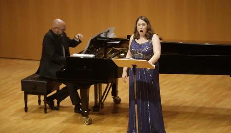 Jorge Robaina i Marta Infante durant el recital.