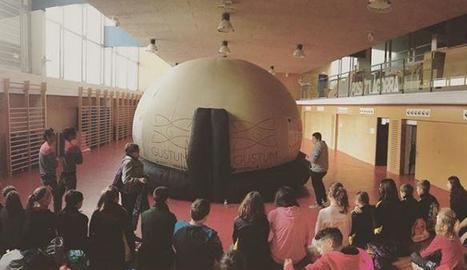 La cúpula s'ha instal·lat al col·legi Àngel Guimerà.