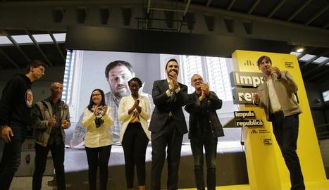 ERC va celebrar ahir el seu acte central de campanya al pavelló de la Bordeta.