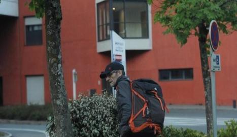 Josu Ternera, instants abans de la seua detenció dijous.
