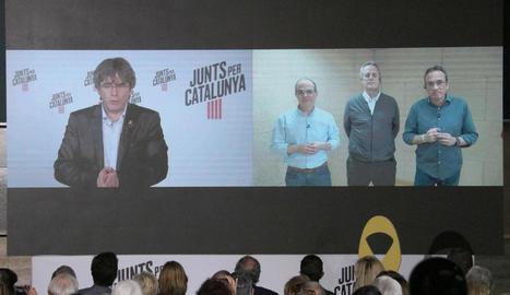 Les intervencions de Puigdemont, Turull, Forn i Rull en l'acte central de JxCat.
