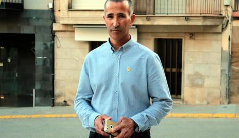 L'alcalde d'Alcarràs i candidat d'ERC a les eleccions europees, Miquel Serra.