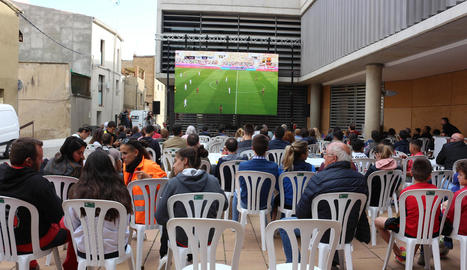 La pantalla gegant a Balaguer.