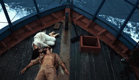 Fotograma del film brasiler 'O barco', a concurs a la Mostra.