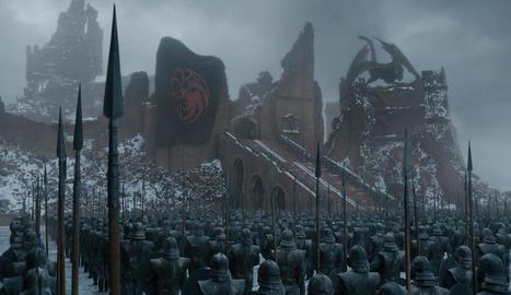 Fotograma extret de l'últim episodi de la sèrie, que mostra com va quedar Desembarcament del Rei després de l'atac de Daenerys.