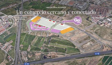 Recreació virtual de l'espai que ocuparà el complex de Torre Salses al costat del vial Víctor Torres.