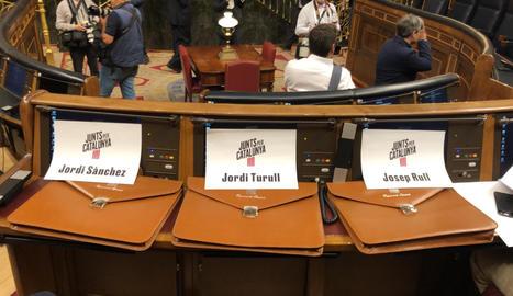 Comença la sessió constitutiva al Congrés i al Senat amb els presos independentistes als escons