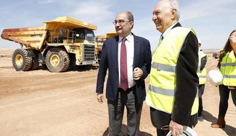 Lambán, amb el president de bonÀrea Agrupa, Jaume Alsina.