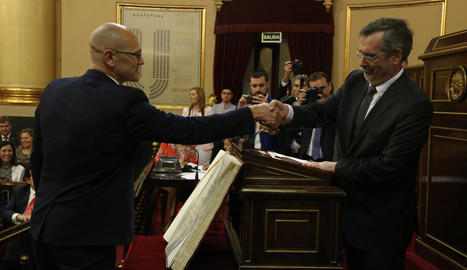 La socialista Meritxell Batet, ahir, després de ser elegida com a presidenta del Congrés dels Diputats.