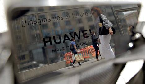 Imatge d'arxiu d'una botiga Huawei a Madrid.
