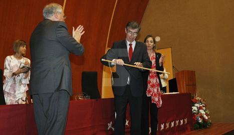 Acto de toma de posesión de Jaume Puy como nuevo rector de la UdL