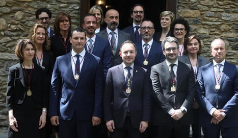 El nou Govern d'Andorra, encara sense la ministra de Cultura.